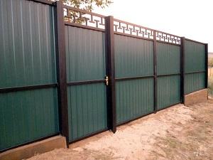 Ворота из профнастила своими руками: обзор сооружения и полезные советы
